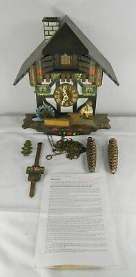 Black Forest Chalet Cuckoo Clock With Swiss Music Box - For Parts Or Repair