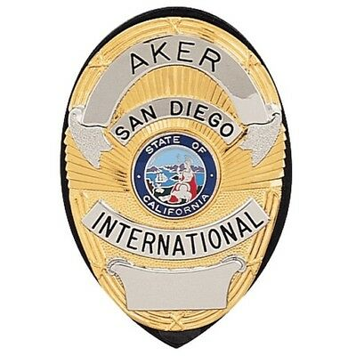 Aker Leather A591-TP Clip-On Shield Badge Holder - Tan