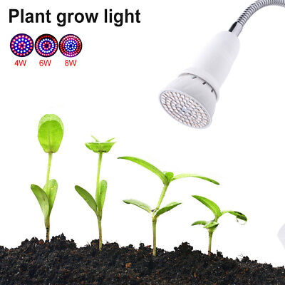 Wide Spectrum E27 E26 Indoor LED Grow Light Red+Blue For Hydroponics Plant 67BD