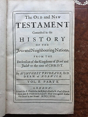 1718 The Old and New Testament Connected in the History of the Jews Vol.2 Part 2