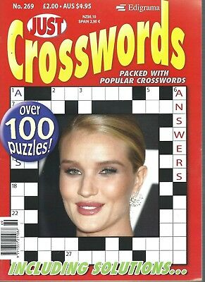 Just Cross Words Magazines With 100+ Puzzles In This Is  Issue 269 Free P/p