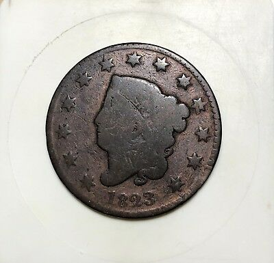 1823 Coronet Head Large Cent - Nice Coin - Hard To Find - Coronet - 1c