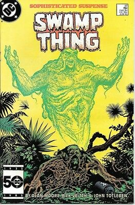 Saga of the Swamp Thing Comic Book #37 DC 1st Constantine 1985 NEAR MINT NEW