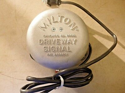 New!! Milton Driveway Signal Bell Only, W/o Hose  805