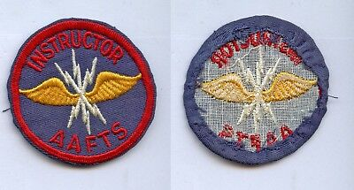 "WWII WW2 Patch-AAF Air Corps AAFTS Training Twill Homemade? 2.5"" Radio Operator?"