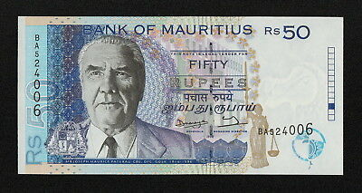 MAURITIUS (P43) 50 Rupees 1998 UNC language text incorrectly