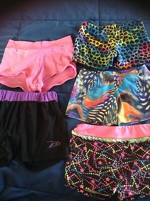 Dance Shorts Lot Girls Size 12-14 Tap Jazz Contemporary 5 Pair