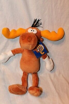 """New With Tag The Adventures Of Rocky And Bullwinkle Plush 15"""" Tall  Bullwinkle"""