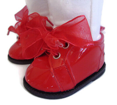 CHRISTMAS Red Patent Booties Boots Shoes fits 18 INCH American Girl Doll