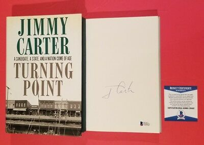 President Jimmy Carter Signed Book Turning Point Certified With Beckett Bas Coa