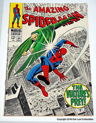 Amazing Spiderman 64 Marvel Comic Book 1968 Vulture! VF-