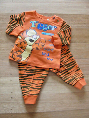 Adorable Baby Boy Licensed Disney Tigger Long Sleeve Pj's Sleepwear