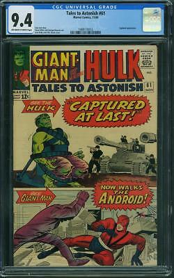 Tales To Astonish #61 CGC 9.4 OW/WH