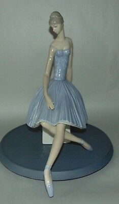 Retired LLADRO Figurine WAITING BACKSTAGE BALLERINA 4559 Perfect!