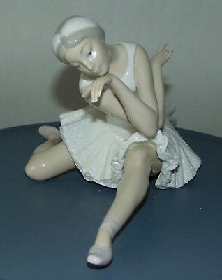 Retired LLADRO Figurine BALLERINA Death Of The Swan PERFECT!