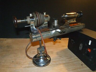 Vintage 8MM Levin Watchmaker Lathe with Collet Holding Tailstock