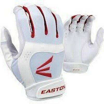 1 Pair Stealth Core Easton Fastpitch Women's Small White / Red Batting Gloves