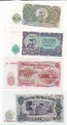 7 1951 Bulgaria 3-200 Leva Notes, Pick 81a-87a