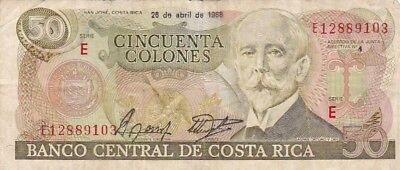 1988 Costa Rica 50 Colones Note, Pick 253