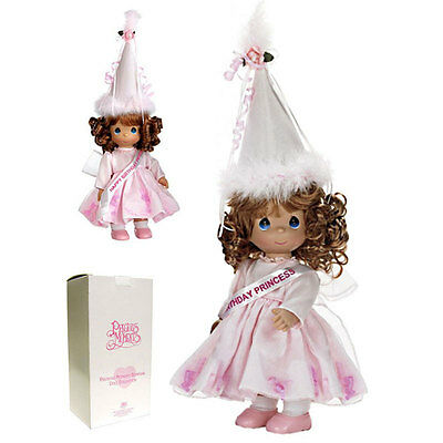 "Precious Moments Happy Birthday Princess 12"" Vinyl Doll by Linda Rick w Gift Box"