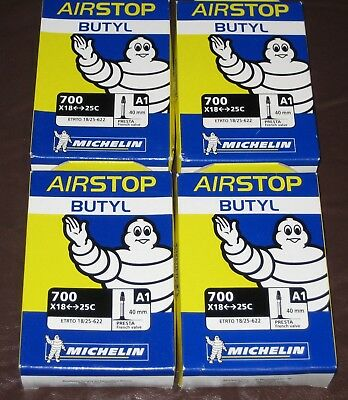 10 Pack of Michelin Airstop Butyl Inner Tubes Short 40mm Presta Valve - BNIB