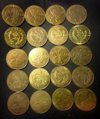 Old Guatemala Coin Lot - 20 EXCELLENT COINS - Hard to Find Type - Lot #J20