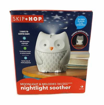 Skip Hop Moonlight & Melodies Nightlight Soother for Baby Owl White 186000-US
