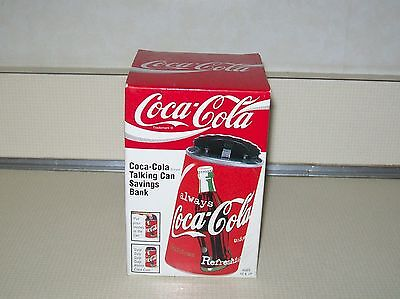 Coca Cola Talking Can Savings Bank c 1998 New in Sealed Box