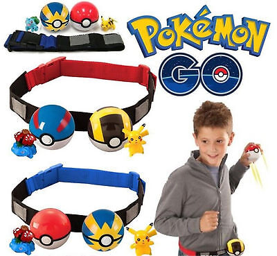 Lovely Pokemon Clip on Carry Kids Adjustable Poke Ball Belt Pretend Play Game