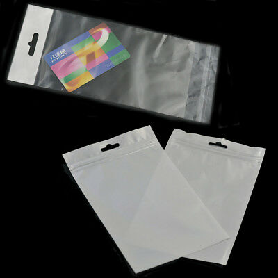 Resealable Cello Cellophane Bag Poly With Hang Hole Tag Flap Sleeve White Clear