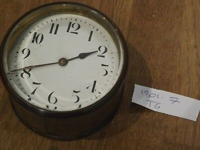 Good Antique French Brass Cased  Drum   Clock