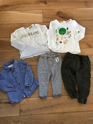 Zara Next Boys 12-18 Months Bundle Tops Shirt Trousers Joggers