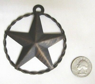"""Western Small Star Rope Circle Christmas Ornament - Anti-copper -3""""  New"""