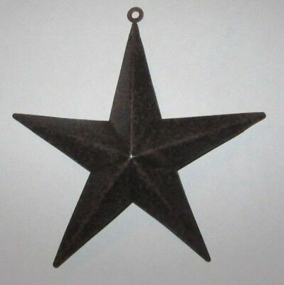 """Western Small 6"""" Star Christmas Ornament - Brown - New"""
