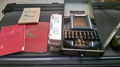 Vintage Stenograph Standard Model / Stenographic Machines Inc Bundle w/ case