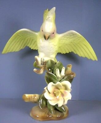 """Cockatoo On Floral Trimmed Branch,11"""", by William Maddux, California, circa 1947"""