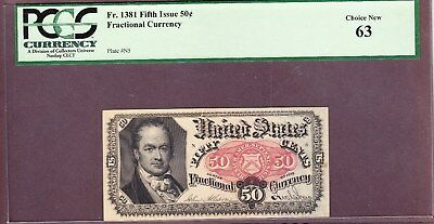 FR1381 5th Issue 50¢ Fractional PCGS63 Choice CU