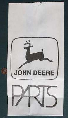 1960-70s Era John Deere Tractor Parts large advertising paper bag-VINTAGE COOL!