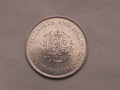 Great Britain, 1972, 25 New Pence, Silver Wedding Anniversary lot#N410