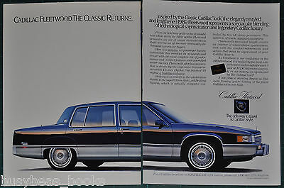 1989 CADILLAC FLEETWOOD 2-page advertisement, large photo, Canadian advert.