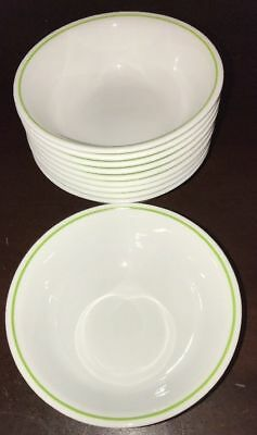 Set of 10 Corelle Corning Strawberry Sundae Spring Meadow Cereal Bowls 6.25""