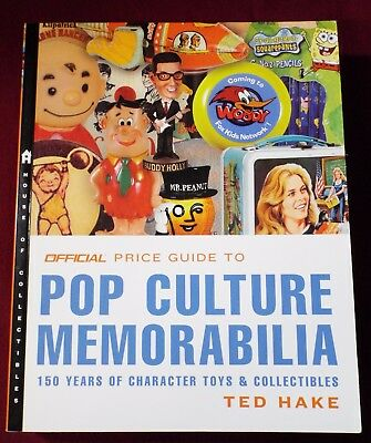 OFFICIAL PRICE GUIDE TO POP CULTURE MEMORABILIA BOOK Ted HAKE 1st Edition