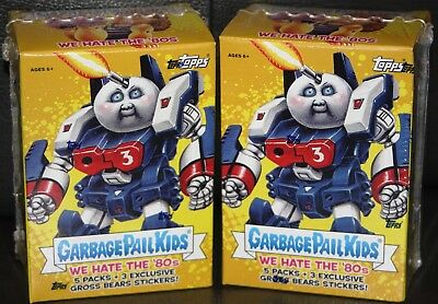 2018 Garbage Pail Kids S1 We Hate The 80's 2 Sealed Blaster Boxes Lot
