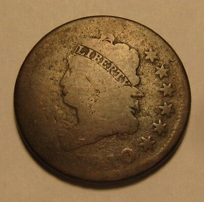 1810 Classic Head Large Cent Penny - Circulated Condition - 40SA