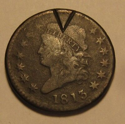 1813 Classic Head Large Cent Penny - Circulated Condition - 43SA