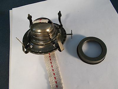"Victorian style ""2"" size Queen Anne Antique Brass Oil Lamp Burner & Collar"
