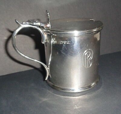 Antique Sterling Silver Mustard Pot, West & Son Dublin 1913 Chester England Mark