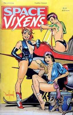 The 3-D Zone #16 Space Vixens Holiday 1989 Dave Stevens With Glasses High Grade