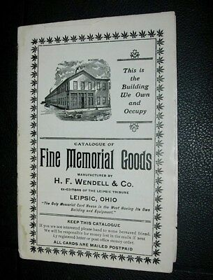 Wendell & Co Leipsic Ohio Catalog Of Cabinet Type Memorial Cards 1910
