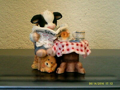 Mary's Moo Moos On the Look out for Butter Opportunities figurine FREE SHIP 1998